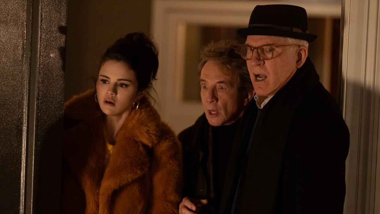 'Only Murders in the Building' met Selena Gomez, Martin Short en Steve Martin Beeld Disney+
