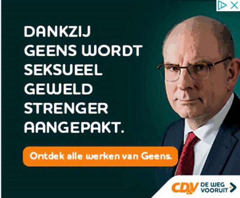 Met dit beeld voerde minister Geens gisteren campagne op sociale media.