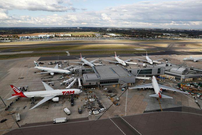 Archieffoto van de luchthaven van Heathrow.