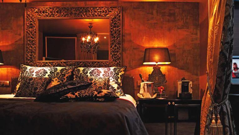 Een van de kamers in het hotel Beeld Hotel Toren