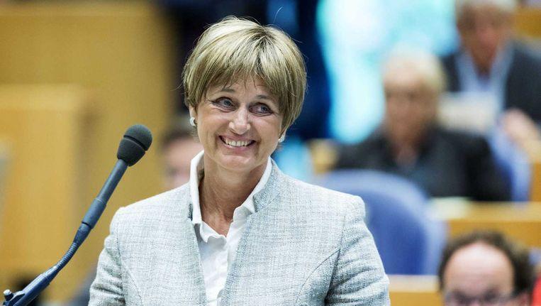 Het hoofdbestuur van 50Plus heeft vandaag unaniem en volledig de steun gegeven aan Martine Baay in de Tweede Kamer als fractielid van de partij. Beeld anp