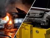 Auto blijft in brand vliegen, bluscontainer nodig in Druten