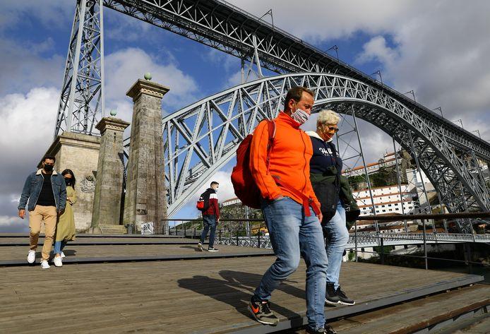 Toeristen in Porto