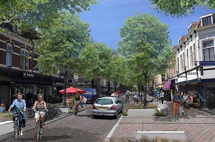 De Kanaalstraat in Utrecht gaat op de schop. De straat wordt versmald en omgevormd tot eenrichtingsweg die alleen vanaf de Damstraat in te rijden is.