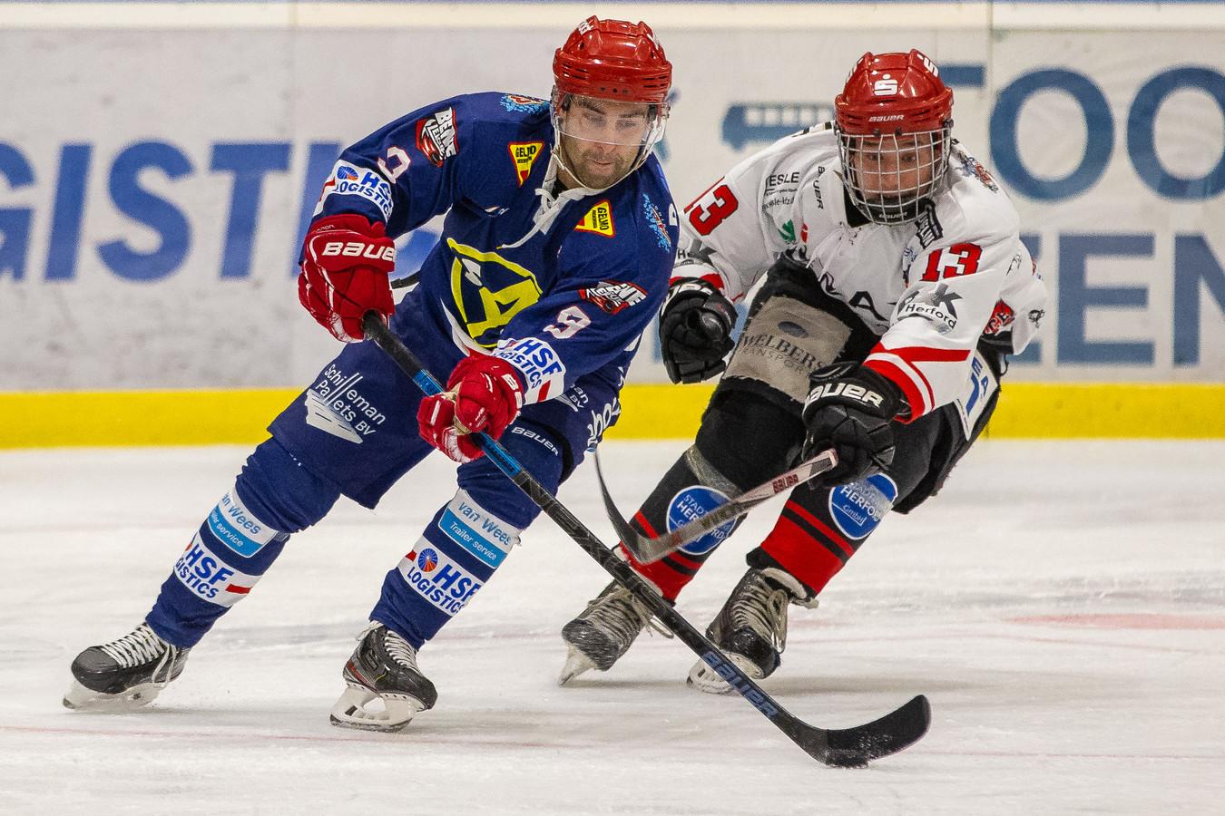 Nijmegen Devils vrijdag in actie tegen Herford Ice Dragons.