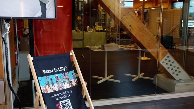 Zoek Lilly aan bibliotheek in het Vrijetijdscentrum van Jabbeke