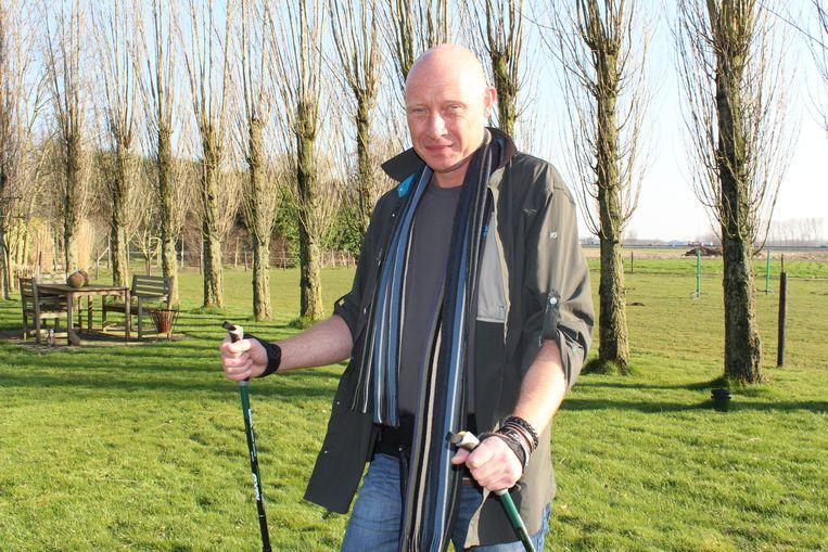 Wim Van Rentergem in 2014:  klaar om naar Jordanië te vertrekken.