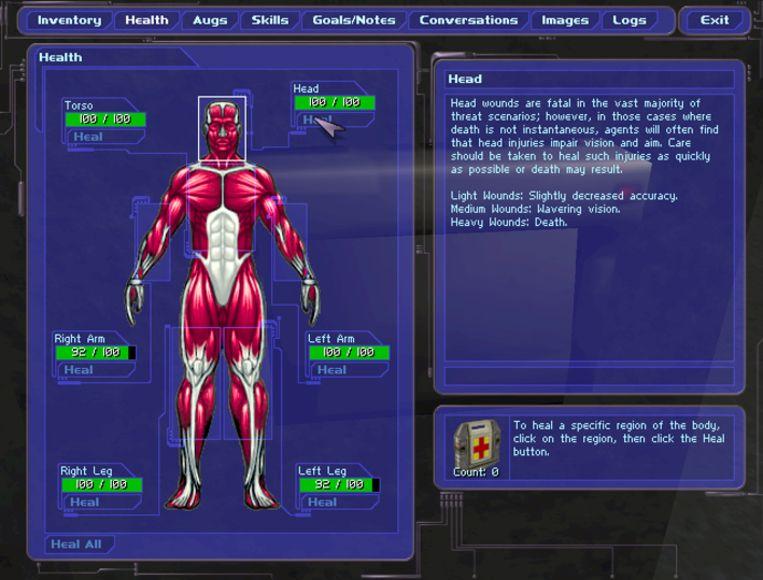 Even belangrijk in 'Deus Ex' was het 'upgraden' van uw met nanotechnologie voorziene hoofdpersonage. Beeld Square Enix