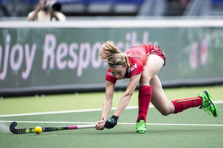 Aline Fobe in actie Beeld PHOTO_NEWS