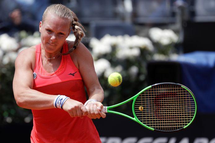 Kiki Bertens in actie in Rome, waar ze onlangs de halve finale haalde.