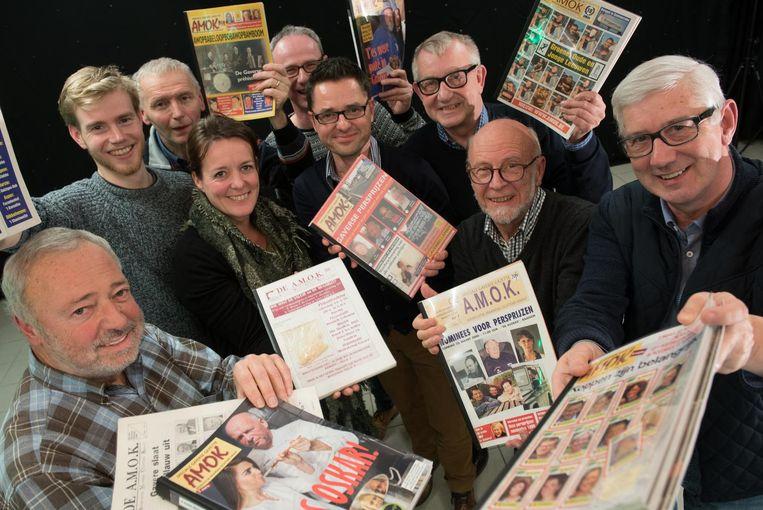 De medewerkers van Mediakring Gavere brengen de honderdste editie van AMOK uit.