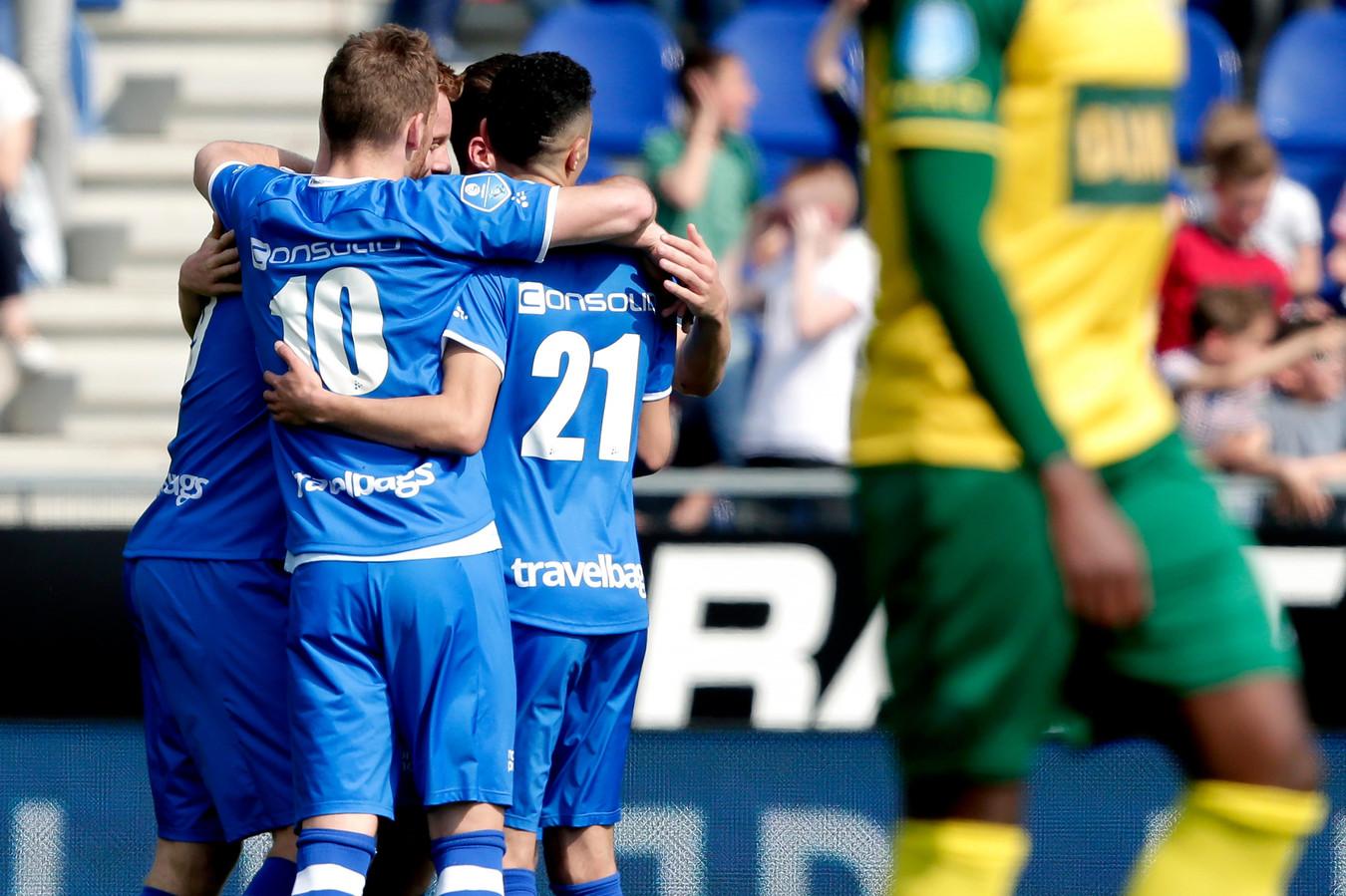 PEC Zwolle haalde vorig seizoen thuis uit tegen Fortuna Sittard: 5-0.