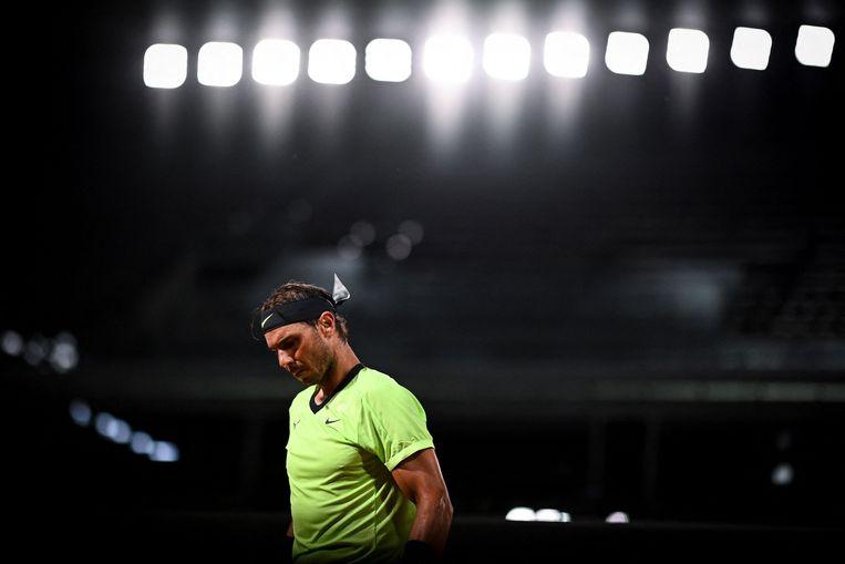 Nadal op Roland Garros. Beeld AFP