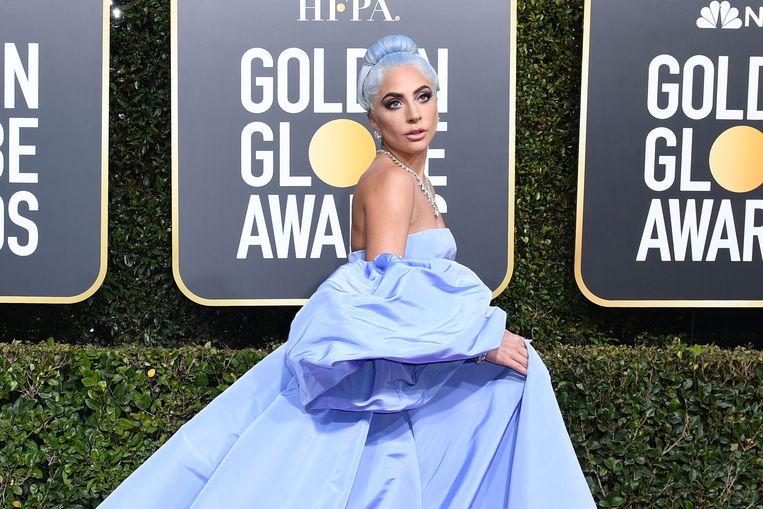Lady Gaga, de grote favoriete voor de Golden Globe voor 'beste actrice' voor haar rol in  'A Star Is Born' op de rode loper.