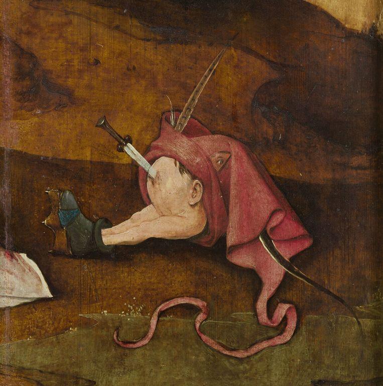 De verzoeking van de heilige Antonius, rechterpaneel, detail. Beeld Coll. Museum voor Schone Kunst Gent