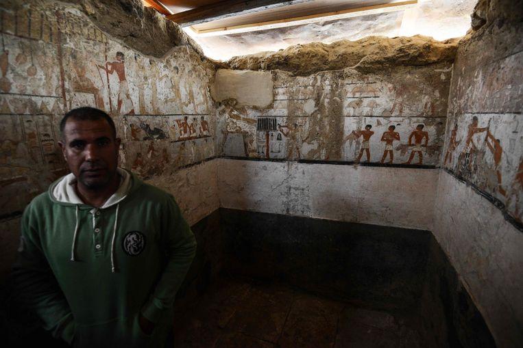 De tombe werd ontdekt tijdens werkzaamheden in het westelijke grafveld van Gezeh.