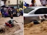 Omstanders redden vrouw uit kolkend water in China