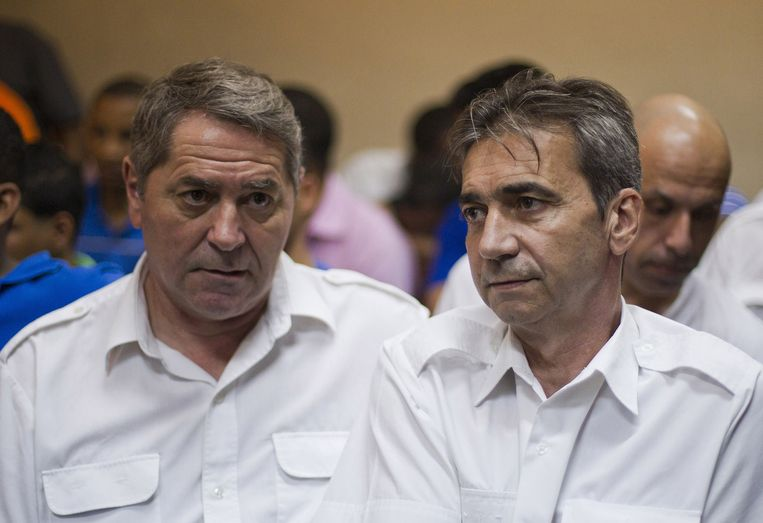 Piloten Pascal Fauret en Bruno Odos. Beeld AFP