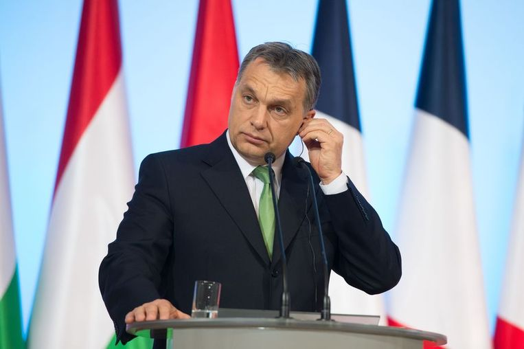 De Hongaarse premier Orbán. Beeld afp