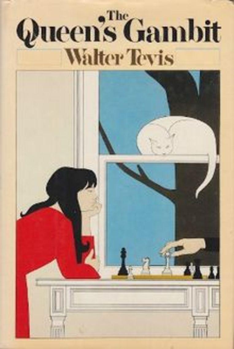 De eerste editie van 'The Queen's Gambit' van Walter Tevis. 'The New York Times' kroonde het boek in 1983 als boek van het jaar. Beeld Tevis