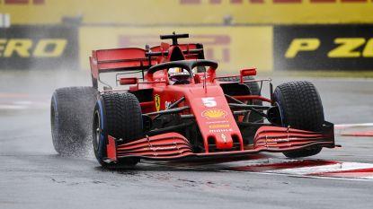 Vettel in regen naar snelste chrono in tweede vrije oefensessie Hongarije