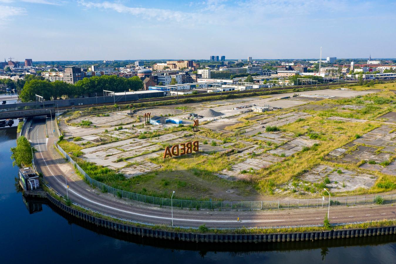 Het braakliggende CSM-terrein: 'Hier ligt een nieuwe toekomst voor Breda in het verschiet'.