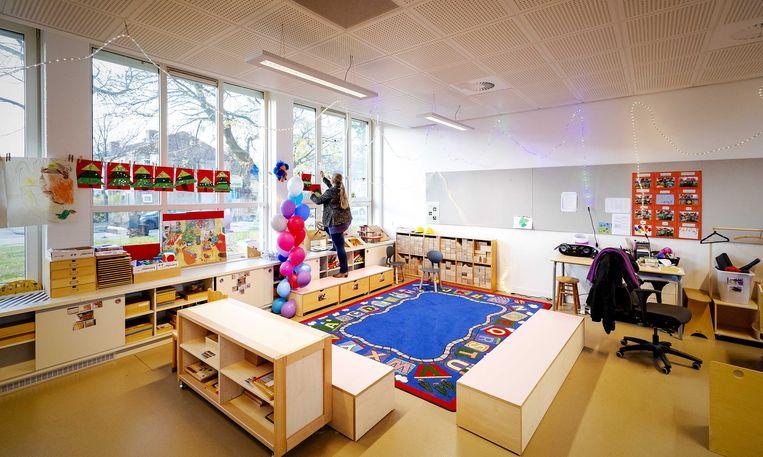 In het najaar van 2019 sloot de Slotermeerschool in Amsterdam samen met vijftien andere basisscholen om aandacht te vragen voor het lerarentekort.  Beeld ANP