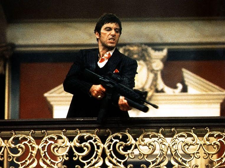 Al Pacino in 'Scarface'.  Beeld rv
