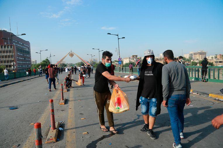 21 mensen kwamen om het leven bij betogingen in Bagdad.