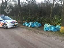 Meerdere zakken met hennepafval gedumpt in Nuenen