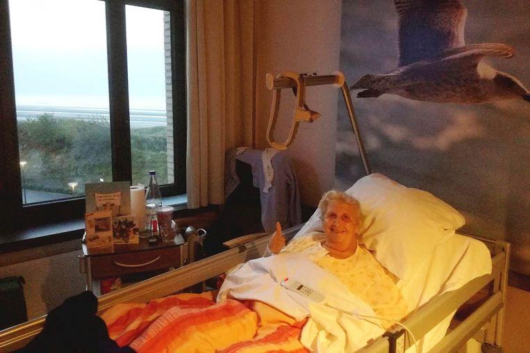 Lena Beeckman maakt het inmiddels goed in het revalidatiecentrum in Oostduinkerke.