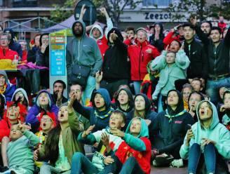 De Panne steunt Rode Duivels met mobiele bar op Markt tijdens EK