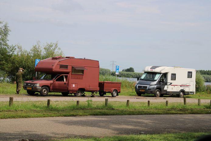 Camperaars wisten de plek in het Bernissegebied bij Simonshaven goed te vinden.