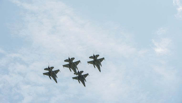 Vier Belgische F16's.