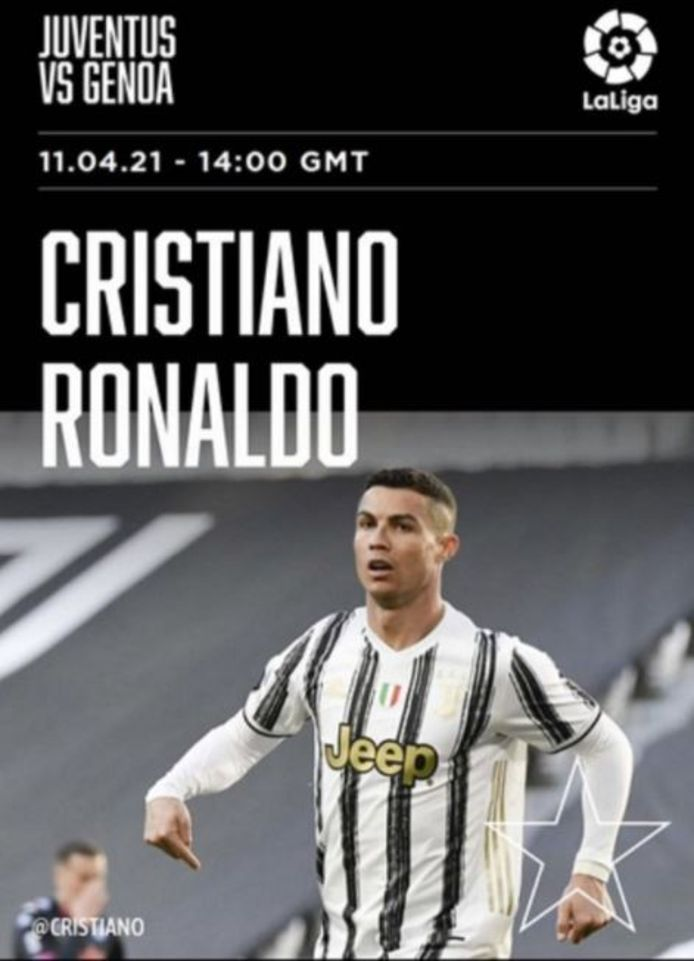 De post van Polaris Sports, met rechtsboven het logo van La Liga.