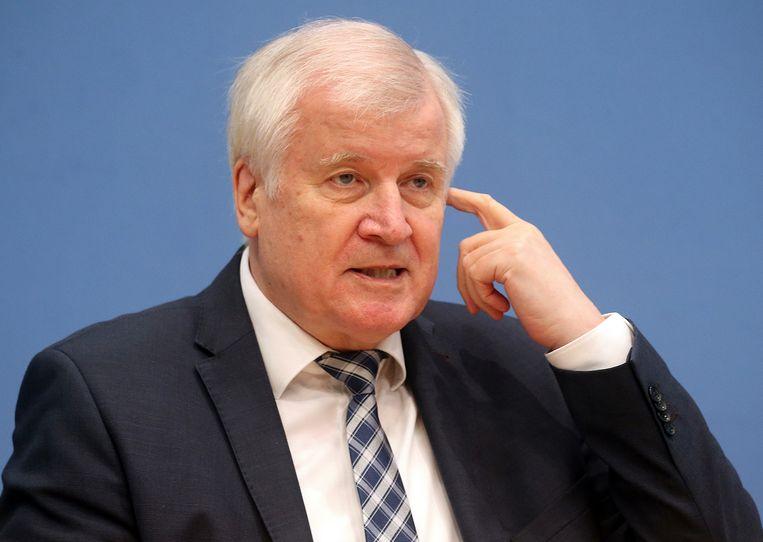 De Duitse minister van Binnenlandse Zaken Horst Seehofer Beeld AP