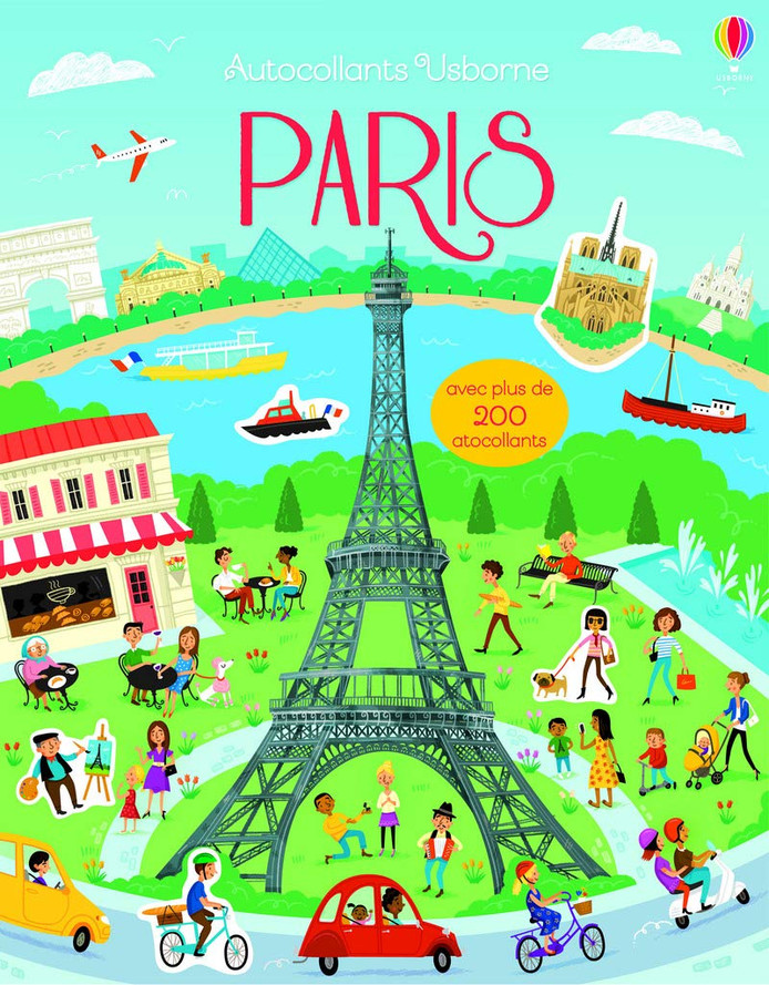Livre d'autocollants sur Paris.