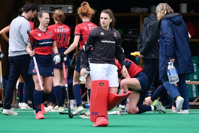 Doelvrouw Roos Knijff staat met Dragons voor een hele uitdaging in de play-offfinale tegen Gantoise.