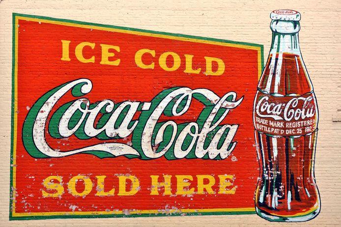 Een oude Coca-Cola reclame.