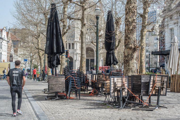Sint-Katelijneplein in Brussel. Beeld Tiene Carlier