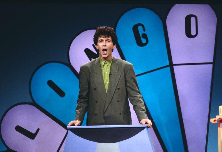 Presentator Robert ten Brink in 1990.<br /><br />Lingo vierde begin dit jaar zijn 25-jarig bestaan. Op 5 januari 1989 was de eerste aflevering op de buis, onder leiding van presentator Robert ten Brink. Ook onder anderen François Boulangé en Nance leidden het woordspel. Sinds september 2005 is Lucille Werner het vaste gezicht. Beeld ANP