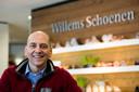 Herman Willems in zijn schoenenwinkel (archieffoto uit 2016).