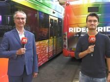 Openbaar vervoer Amsterdam in regenboogkleuren voor Pride
