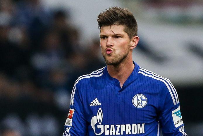 Klaas-Jan Huntelaar als spits van Schalke.