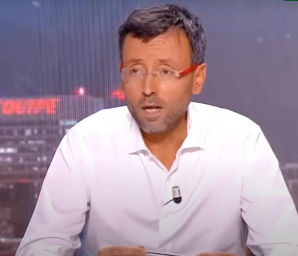 Le présentateur de L'Equipe du Soir, Olivier Ménard