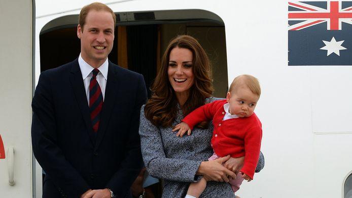 William, Kate en George tijdens een recent bezoek aan Australië