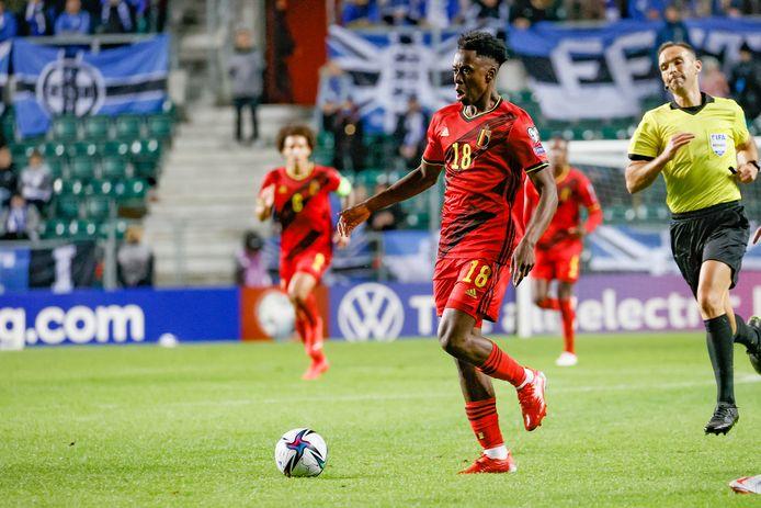 Premières minutes pour Albert Sambi Lokonga avec l'équipe nationale.