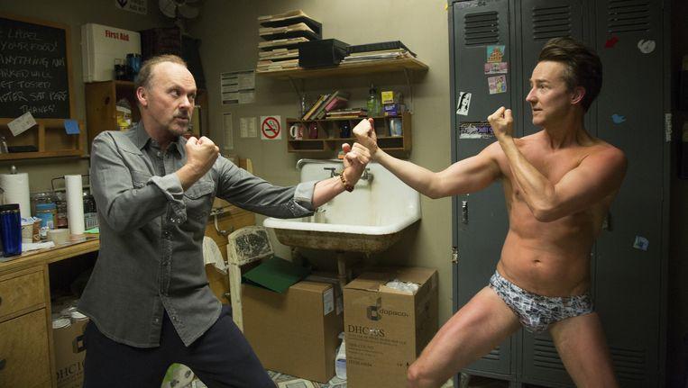Michael Keaton en Edward Norton Beeld ap