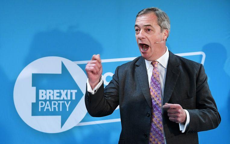 Brexit Party-leider Nigel Farage. Beeld EPA