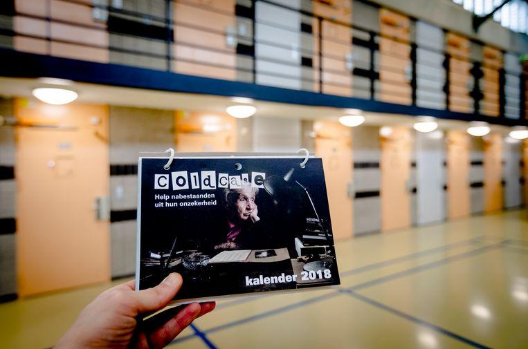 Een coldcasekalender 2018 in de Penitentiaire Inrichting in Zoetermeer. Beeld ANP